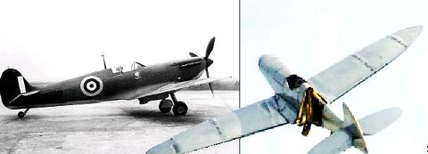Blackburn Citizen: REPLICA The model made by WEC and left, the plane Darreners bought