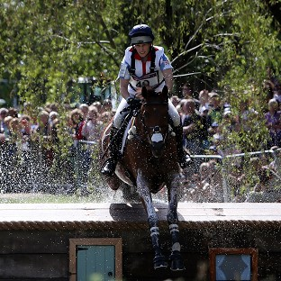 Zara Phillips put in a great performance as Team GB hold the silver medal position ahead of the showjumping