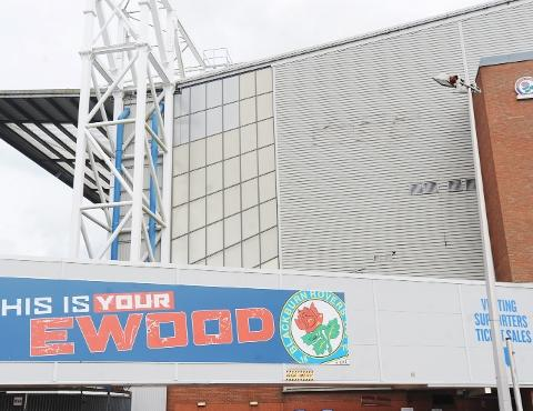 Blackburn Citizen: BLANK The WEC sign has been removed from the Darwen End leaving just a trace.
