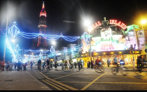 Olympic heroes in Blackpool Illuminations switch on