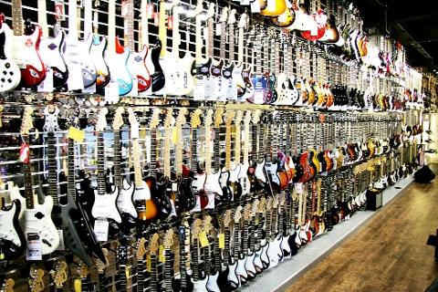 GUITAR WALL One of largest such displays in world