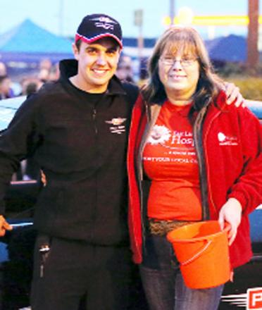Paul Swift with event organiser Denise Gee