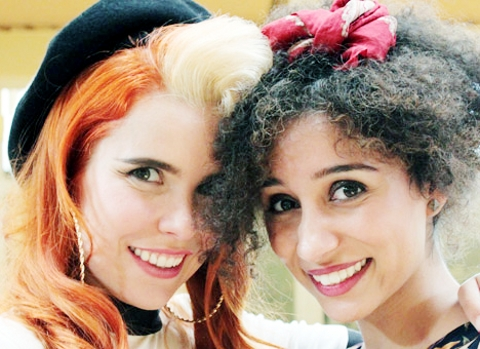 MISSION Ava Patel, right, meets pop star Paloma Faith during filming for Battlefront on Channel 4