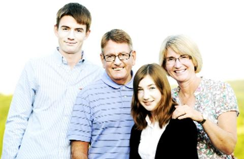 Fiona with son Oliver, husband Phil and daughter Sophie