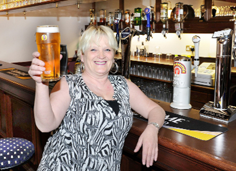 Carole Hughes toasts her new venture