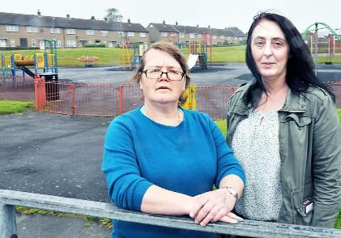 Shocked Shadsworth residents Mary Anderson and Alison Critchley