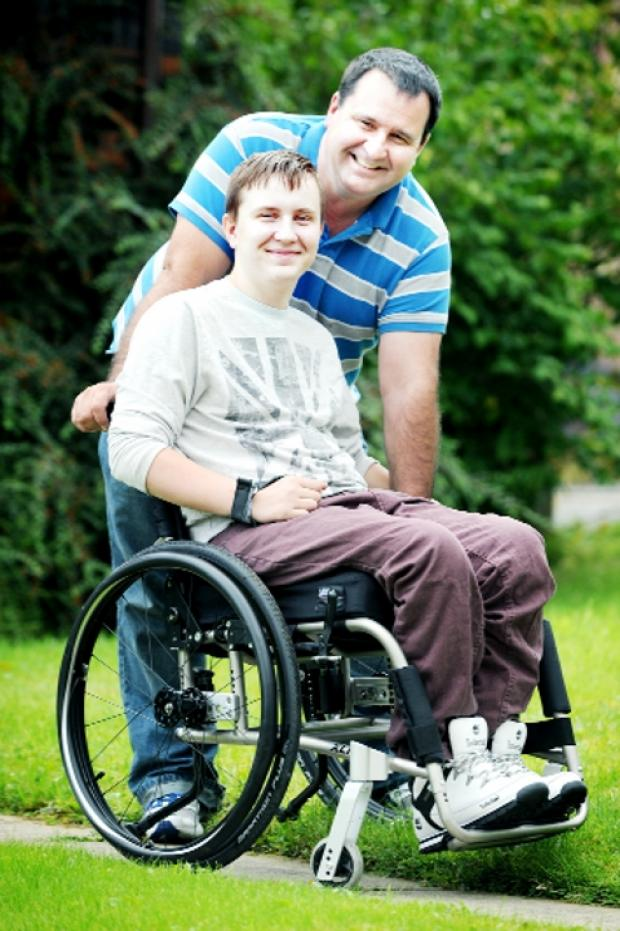Blackburn Citizen: HOPE AFTER DISASTER George with his father, Andrew,
