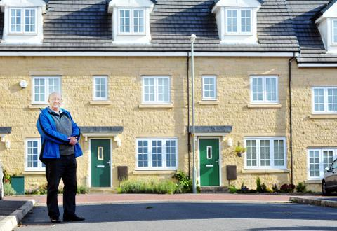 Coun Roy Davies at the Woodland Park development