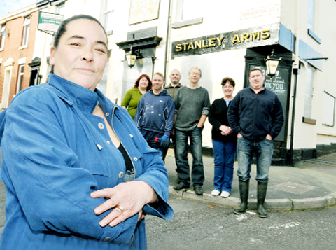 Siobhan Coyne with members of the Save Our Stanley group