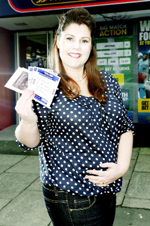 Michelle Scott with her betting slip