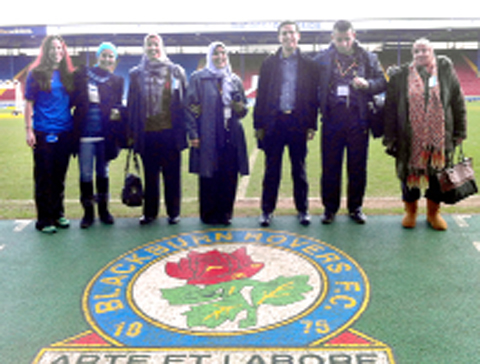 Egyptian teachers during their visit to Ewood Park