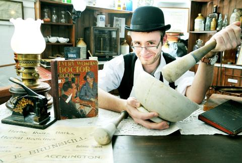 Blackburn Citizen: Peter Whitehouse in the apothecary