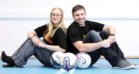 David Dunn with event organiser Laura Jones
