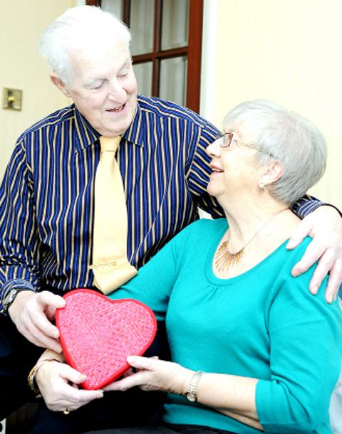 Jim and Beryl Warner celebrate their diamond wedding today
