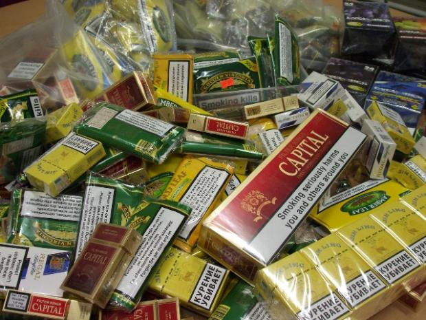 HAUL: The illegal tobacco seized during raids