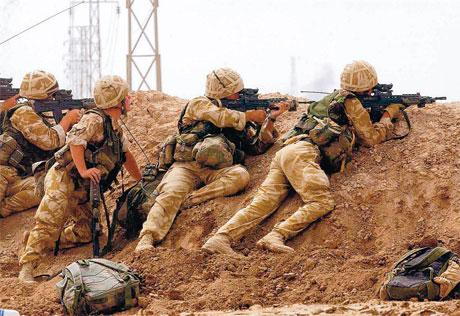 British commandos in action near Basra during the Iraq war