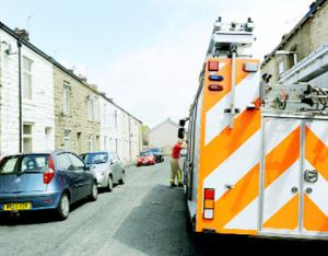 Hyndburn fire woman rescued