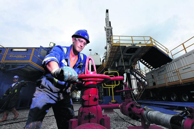 A fracking plant in operation in Lancashire