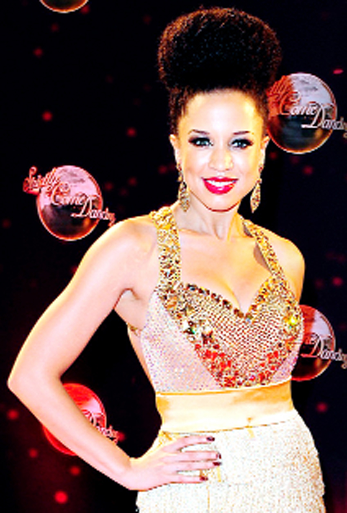 Natalie Gumede on the Strictly stage