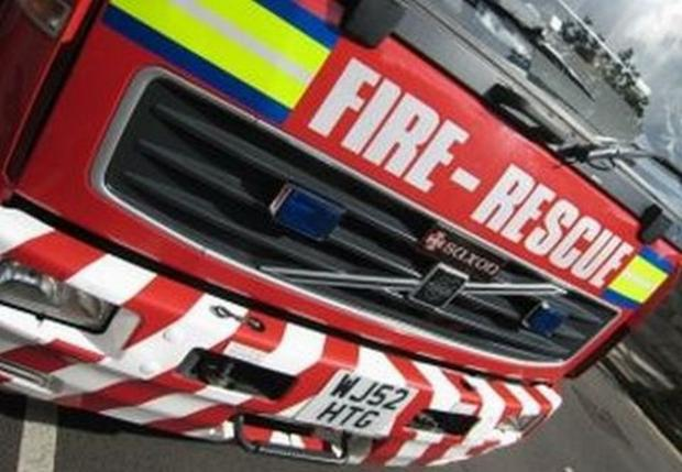 Blackburn Citizen: Derelict fire set alight in Oswaldtwistle