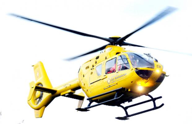 Injured worker airlifted to Royal Blackburn Hospital