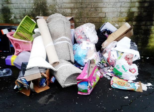 Blackburn Citizen: Just some of the rubbish left in and around Douglas Place and Gretna Walk in Blackburn
