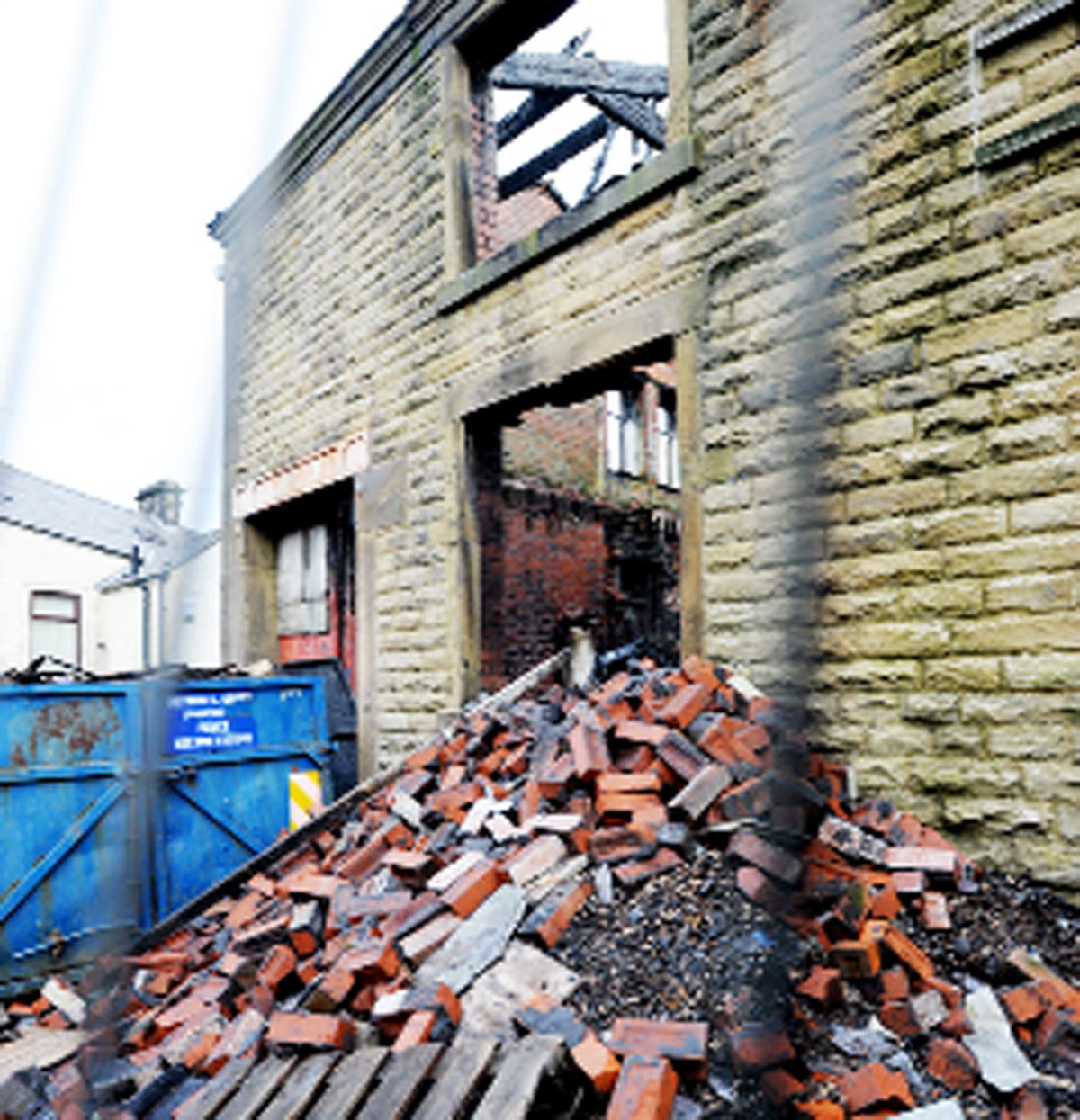 The remains of Equity House after a fire in 2010