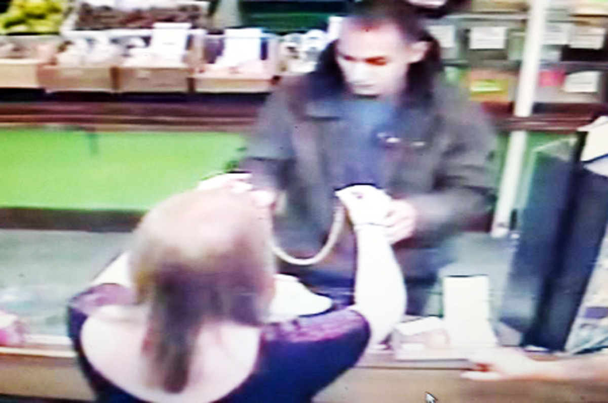 Hunt for man who grabbed necklace from Darwen jeweller