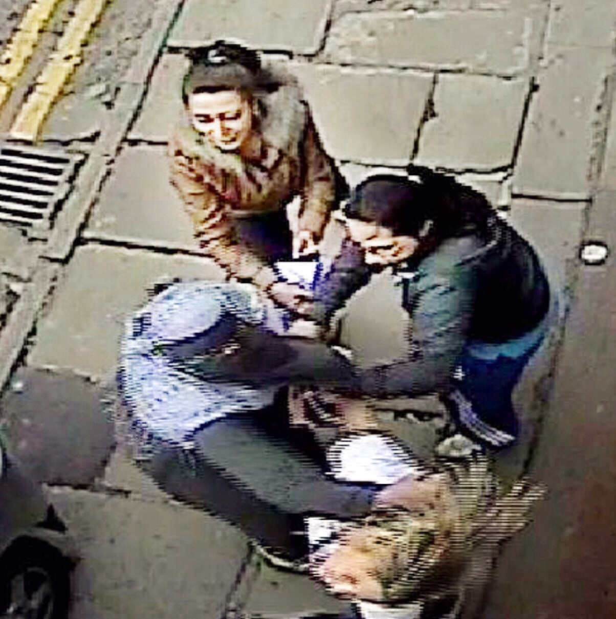 A still from The CCTV footage shies the attack