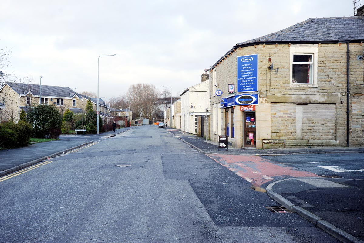 The scene of the incident, Pickup Street, Oswaldtwistle