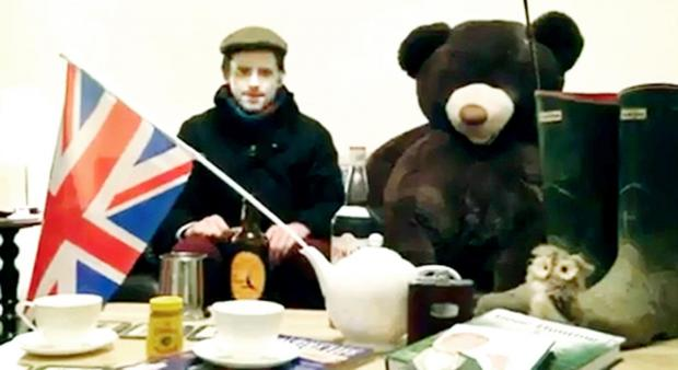 Blackburn Citizen: County councillor Paul White uploaded a video to his Facebook page showing him sat beside a large teddy bear wearing a flat cap and downing a pint of ale from a tankard