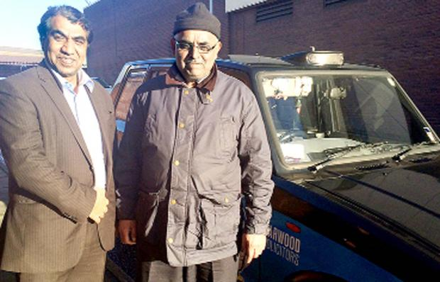 Coun Iftakhar Hussain, left, and Mohammed Yunis of Blackburn Taxi Association