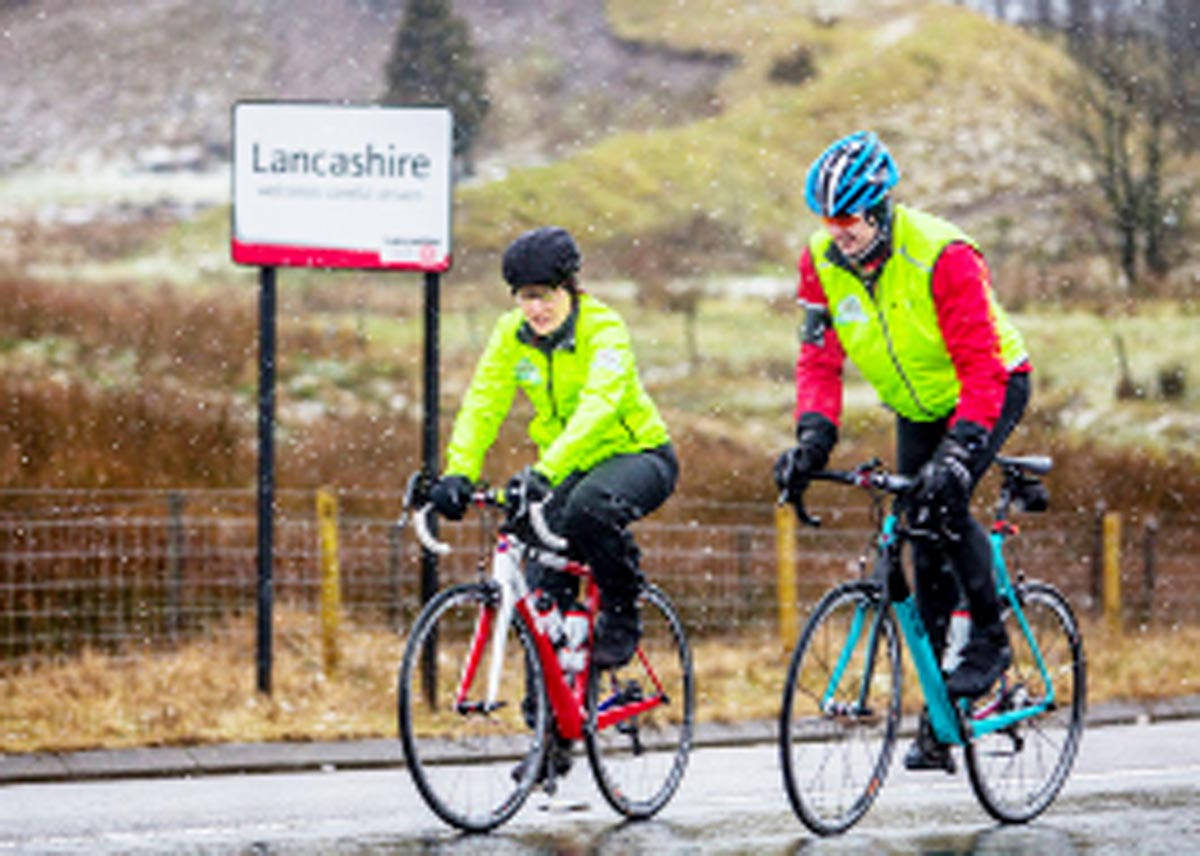Sport Relief: Davina McCall takes break in East Lancashire