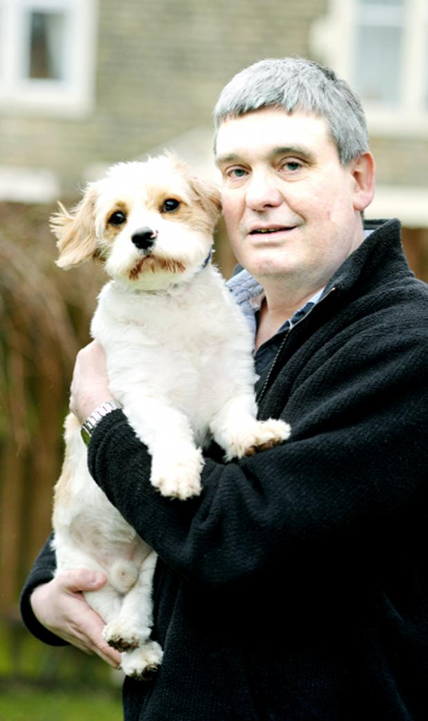 Blackburn Citizen: Kevin Gregory with his dog George