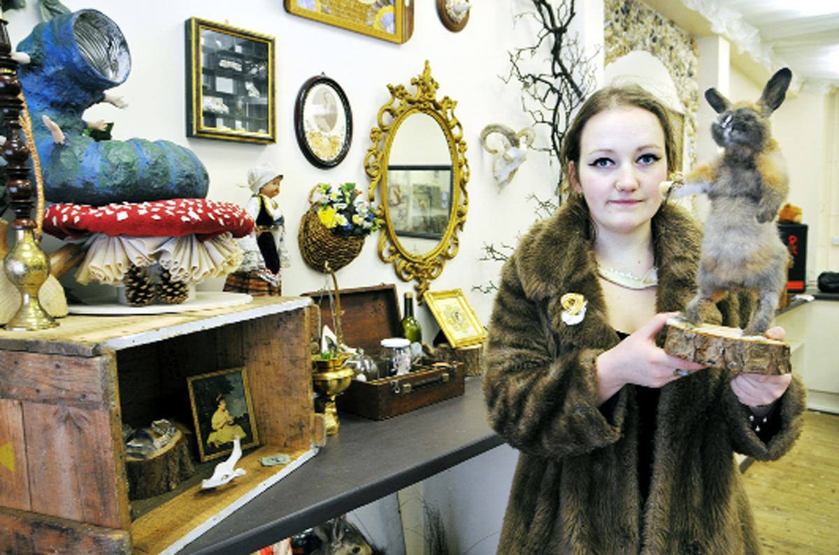 Nicola with some of the items from her shop