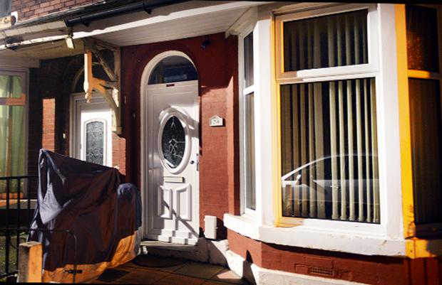 The house in Little Harwood where the leak happened