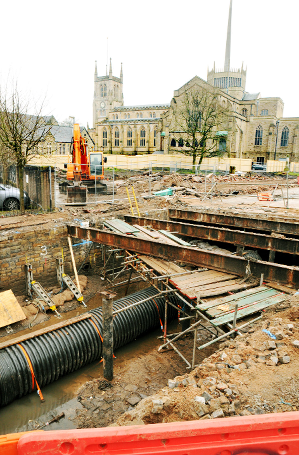 Hidden Blackburn river revealed in town centre