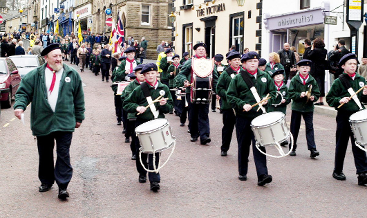 Scouts have held parades in Clitheroe for 99 years