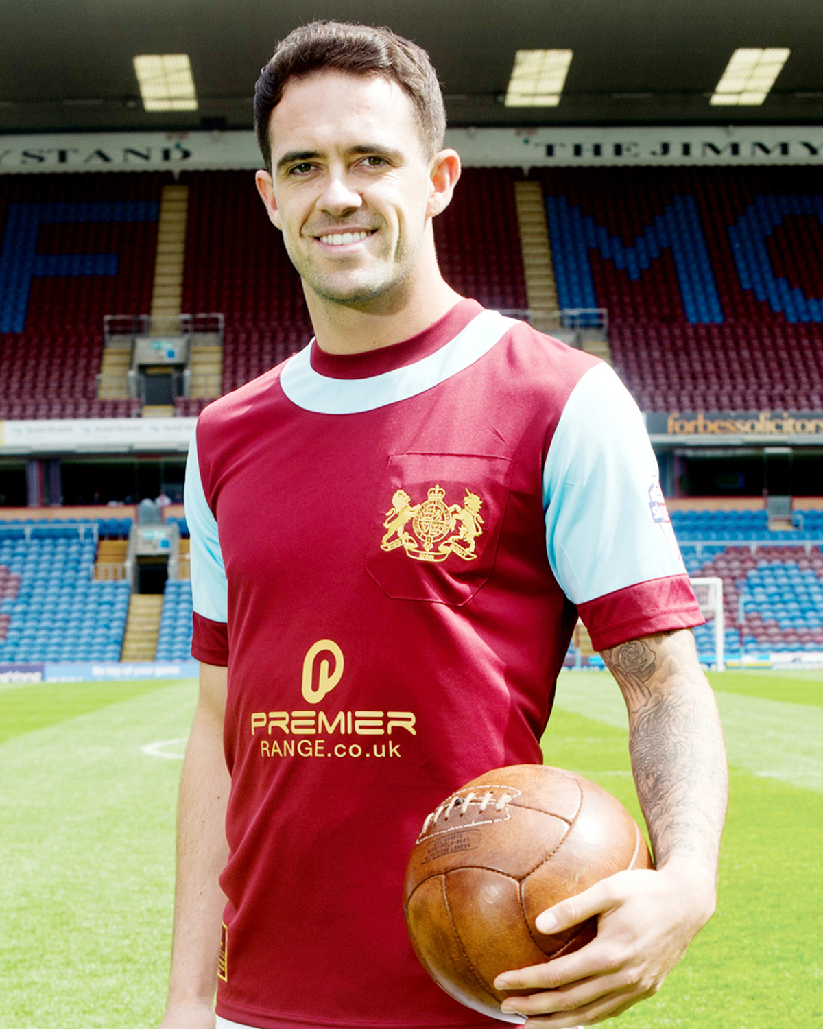 Burnley star's 'nerves' for Accrington charity headshave