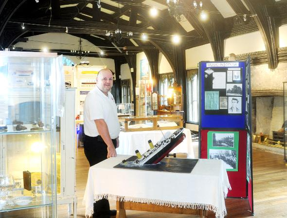 Blackburn Citizen: Nigel Hampson, of Lancashire Titanic Museum, which has moved from Colne and is now based in Samlesbury Hall