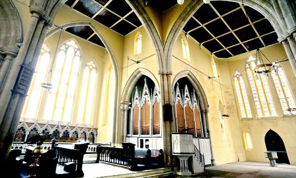 Blackburn Citizen: The antique organ in situ at Holy Trinity Church in Mount Pleasant, Blackburn
