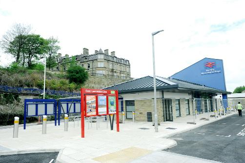 Blackburn Citizen: Work on the new station at Manchester Road, Burnley, is nearing completion