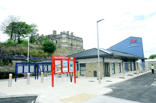 Work on the new station at Manchester Road, Burnley, is nearing completion
