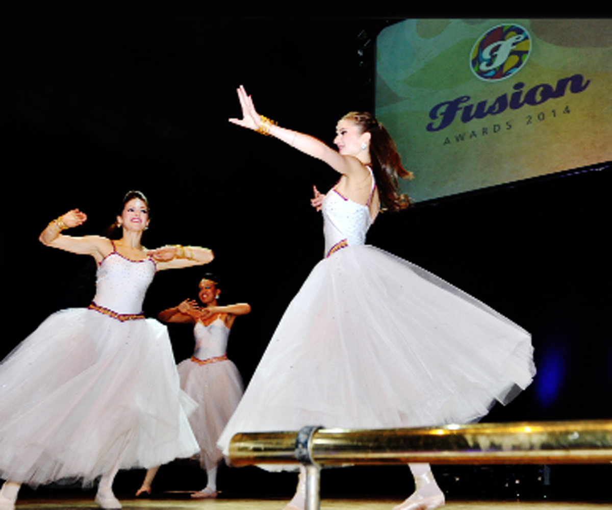 Dancers entertain the audience