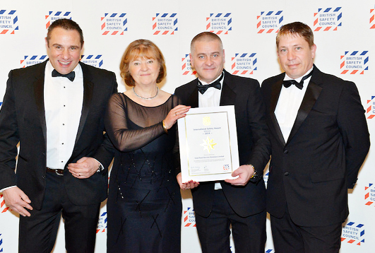 From left, Paul Nowell of Total Food Service, Lynda Armstrong OBE of the BSC, Peter Kozlowski and David Mellor of Total Food Service