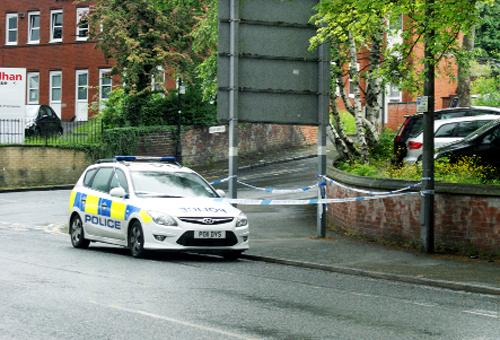 The cordon in Preston New Road