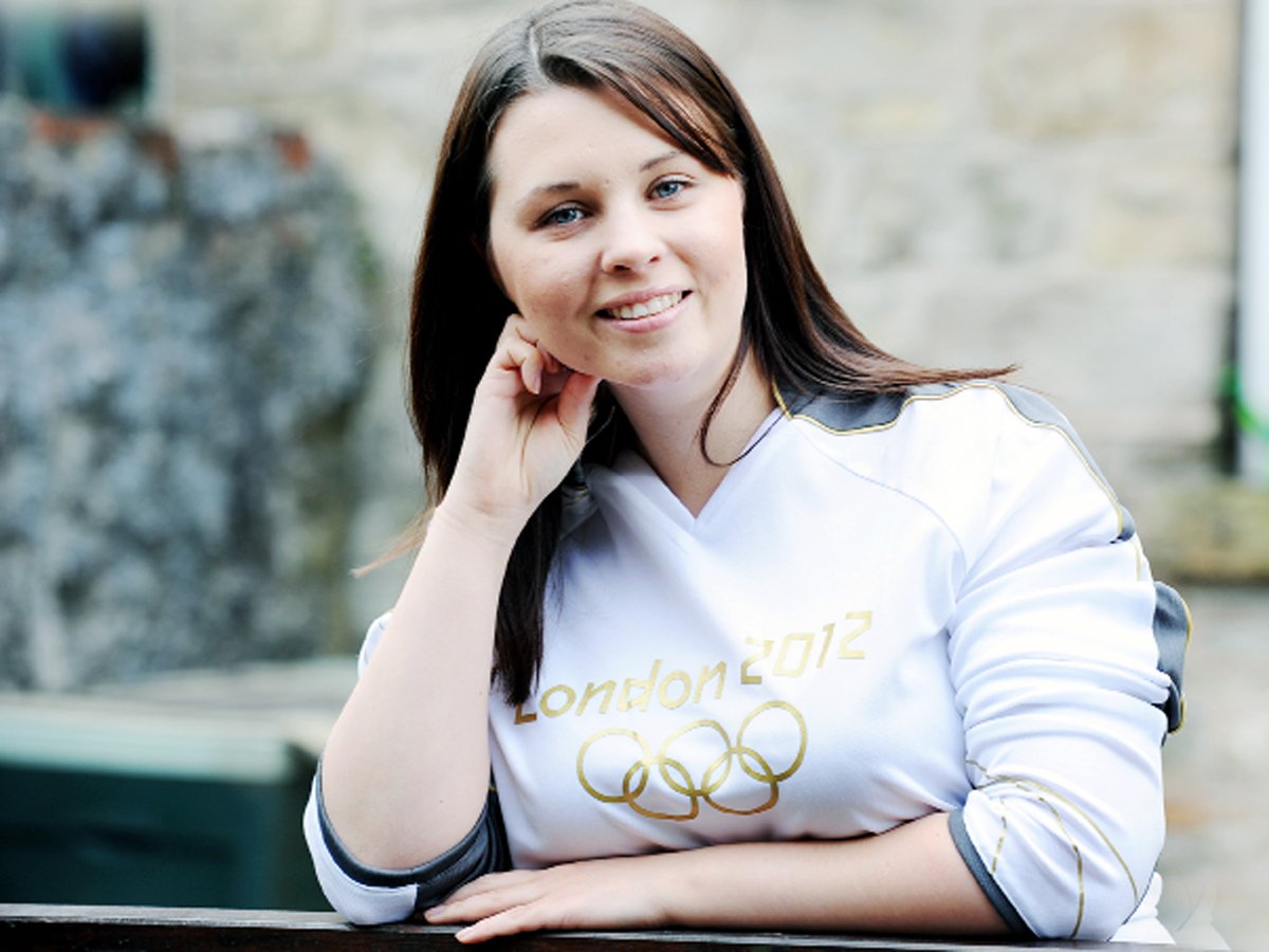 Rosie Hollis who was an Olympic torch bearer back in 2012