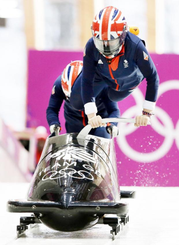 Blackburn Citizen: Paula Walker in action at the Winter Olympics in Sochi