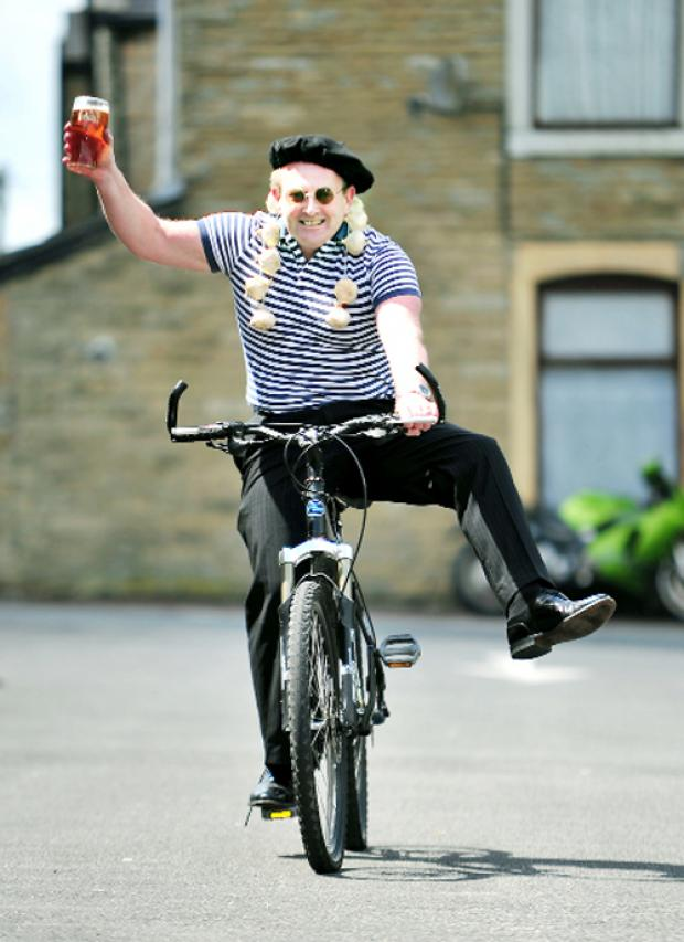 Blackburn Citizen: Managing director David Grant gets into the spirit for the Tour de France