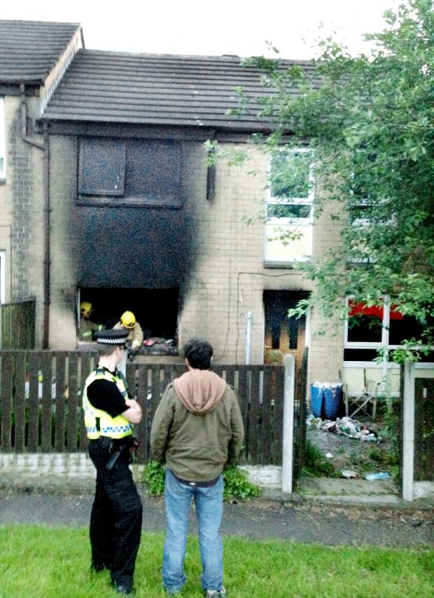 Blackburn Citizen: The fire at Fowler Height Close, Blackburn